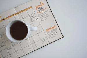 Feedback geven koffie kalender