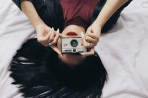 meisje en camera
