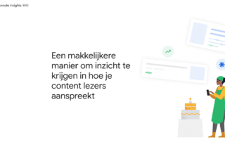 Website van Search Console Insights van Google